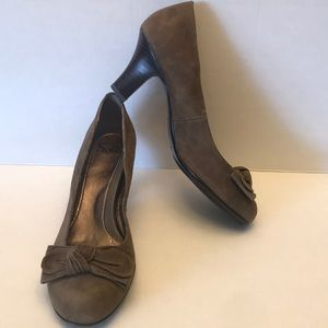 Sofft Brown Suede Pumps, Size 9.5